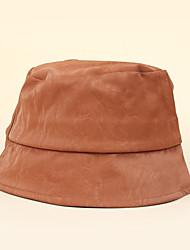 cheap -Women's Bucket Hat Dailywear Festival Pure Color Pure Color Coffee Black Hat
