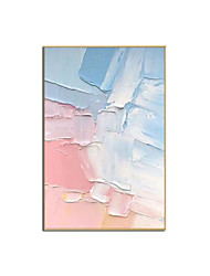 cheap -Oil Painting Handmade Hand Painted Wall Art Modern Pink and Blue Abstract Picture Home Decoration Decor Rolled Canvas No Frame Unstretched