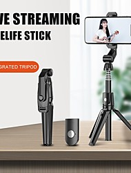 cheap -Selfie Stick Bluetooth Extendable Max Length 106 cm For Universal Android / iOS