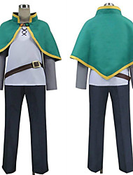 cheap -Inspired by God's Blessing on This Wonderful World Satou Kazuma Anime Cosplay Costumes Japanese Cosplay Suits Top Pants Shawl For Men's