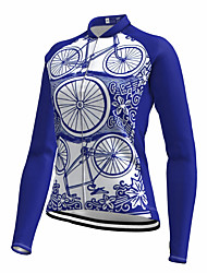 cheap -21Grams Women's Long Sleeve Cycling Jersey Spandex Blue Bike Top Mountain Bike MTB Road Bike Cycling Quick Dry Moisture Wicking Sports Clothing Apparel / Stretchy / Athleisure
