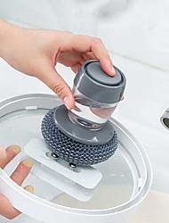 cheap -Automatic Liquid Filling Pot Washing Brush Push-type Bowl Dish Washing Brush Creative Kitchen Stove Brush