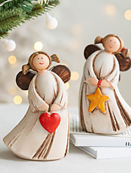 cheap -Christmas Angel Girl Tabletop Ornament Christmas Tabletop Resin Ornament