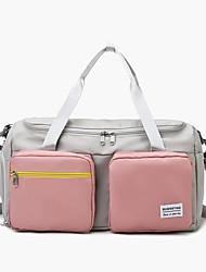 cheap -Women's Large Capacity Waterproof Sports Oxford Cloth Travel Bag Zipper Color Block Daily Outdoor Purple Pink Khaki Green