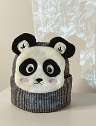 cheap -Kids Unisex Active Outdoor Rabbit / Panda Animal Braided Acrylic Hats & Caps Blue / Purple / Yellow Kid onesize