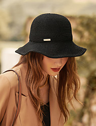 cheap -Simple Solid Color Acrylic / Cotton Hats with Hollow-out / Metal 1pc Casual / Holiday Headpiece