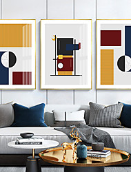 cheap -Wall Art Canvas Prints Painting Artwork Picture Abstract Geometry Home Decoration Dcor Rolled Canvas No Frame Unframed Unstretched