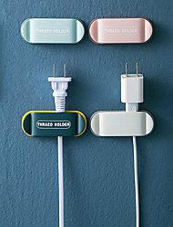 cheap -4PCS Punch-Free Power Plug Hook Electrical Wire Plug Hooks Socket Holder Storage Hanger Multi-Purpose Hooks Household Organizer