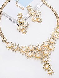 cheap -Necklace Women's Classic AAA Cubic Zirconia White Fashion Classic Lovely Wedding Silver Gold 50 cm Necklace Jewelry 1pc for Wedding Gift