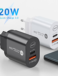 cheap -20 W Output Power USB PD Charger Fast Charger Portable Short Circuit Protection QC 3.0 CE Certified For Cellphone 1 PC