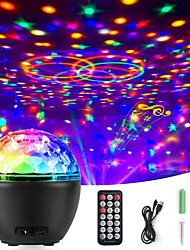 cheap -Projector Light Remote Controlled Rotating LED Projector Dimmable colors Christmas Party Wedding Red