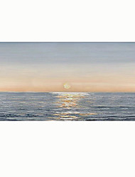 cheap -Oil Painting Handmade Hand Painted Wall Art Horizontal Abstract Modern Seascape Home Decoration Decor Rolled Canvas No Frame Unstretched