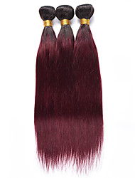 cheap -Ishow 3 Bundles Human Hair Weaves 8A Quality Color Straight Bar 1B99J# Hair Curtain 100% Real Peruvian Wig 3 Pieces Combination Set 10-24 Inch