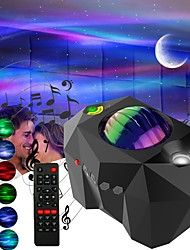 cheap -Star Galaxy Projector Light Remote Controlled Auto-Off Timer Dimmable colors Party Bedroom Aurora Star Lights Laser Galaxy Starry Sky Ocean Wave Projector Bedroom Decoration Atmospher Night Light