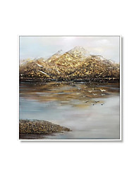 cheap -Oil Painting Handmade Hand Painted Wall Art Square Modern Abstract Landscape Home Decoration Decor Rolled Canvas No Frame Unstretched