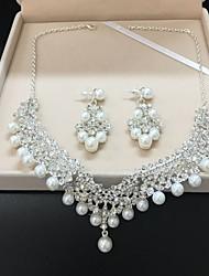 cheap -Bride Wedding Necklace Earrings Two-piece Set Accessories Korean Wedding Wedding Hair Accessories