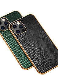 cheap -Phone Case For Apple Back Cover iPhone 13 12 Pro Max 11 X XR XS Max Shockproof Dustproof Lines / Waves Solid Colored Genuine Leather