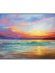 cheap -Oil Painting Handmade Hand Painted Wall Art Modern Seascape Sunrise Abstract Picture Home Decoration Decor Rolled Canvas No Frame Unstretched