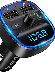cheap -OTOLAMPARA 2021 New FM Transmitter Bluetooth FM Transmitter Wireless Radio Adapter Car Kit with Dual USB Charging Car Charger MP3 Player Supports TF Card and USB Disk