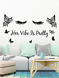 cheap -Her Butterfly Heart Printing Remove Personalized Wall Study Living Room Sofa back