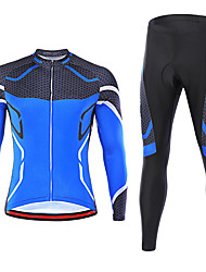cheap -21Grams Men's Long Sleeve Cycling Jersey with Tights Spandex Red Blue Green Quick Dry Moisture Wicking Sports Graphic Mountain Bike MTB Road Bike Cycling Clothing Apparel / Stretchy / Athletic