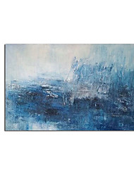 cheap -Oil Painting Handmade Hand Painted Wall Art Modern Blue Minimalist Abstract Picture Home Decoration Decor Rolled Canvas No Frame Unstretched
