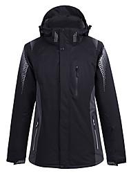 cheap -Men's Ski Jacket Snow Jacket Thermal Warm Waterproof Windproof Breathable Hooded Winter Winter Jacket for Snowboarding Ski Mountain / Cotton / Women's