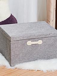 cheap -Cotton Linen Folding Storage Box Drawer Storage Box Cardboard Covered Storage Box Socks Underwear Storage Box