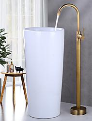 cheap -Bathtub Faucet - Retro Electroplated Free Standing Ceramic Valve Bath Shower Mixer Taps