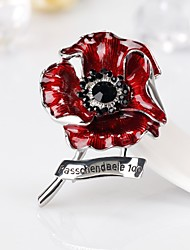 cheap -New Hot-Selling Poppy Flower Dripping Brooch Fashion All-Match Personality Corsage