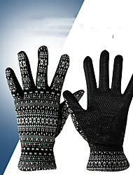 cheap -Golf Glove Golf Full Finger Gloves Women's Anti-Slip UV Sun Protection Breathable Knitwear Silicon Silica Gel Outdoor Black / Sweat wicking