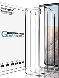 cheap -(3 pack)  tempered glass screen protector compatible for google pixel 5a 5g, with alignment frame 9 hardness hd anti-scratch (lifetime replacement)