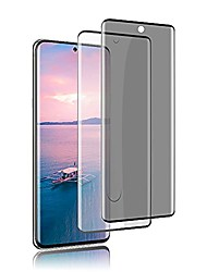 cheap -[2 pack] galaxy s20 plus 5g screen protector, fingerprint compatible 3d full coverage 9h hardness tempered glass screen protector, hd+privacy protective film, for samsung galaxy s20 + (6.7 inch)