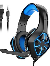 cheap -GS-1000 Gaming Headset USB 3.5mm Audio Jack PS4 PS5 XBOX Ergonomic Design Stereo Gaming Computer Headset with Microphone Breathable LED Light for Desktop Laptop