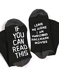 cheap -Fashion Comfort Women's All Socks Christmas Socks Casual Socks Medium Christmas Black 1 1 Pair