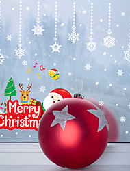 cheap -Happy New Christmas Pendant Window Porch Bedside Holiday Decoration Wall Sticker Lovely Sticker Decoration