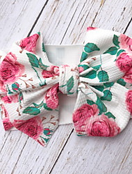 cheap -1pcs Kids Girls' Active / Sweet Daily Wear Floral Bow / Print Hair Accessories Blushing Pink
