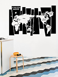 cheap -a map of world/75*105cm creative foreign trade wall stickers home self-adhesive decoration fanxi