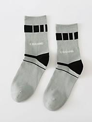 cheap -Comfort Sport Men's Socks Geometric Socks Medium Casual Blue 1 Pair
