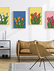cheap -Wall Art Canvas Prints Painting Artwork Picture Floral Home Decoration Decor Rolled Canvas No Frame Unframed Unstretched