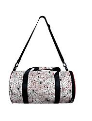 cheap -Unisex Bags Polyester Duffle Bag Zipper 3D Digital Print Spider web Halloween Daily 2021 3D Print White Red