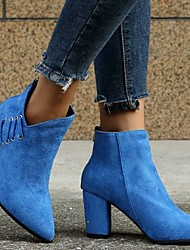 cheap -cross-border plus size chelsea boots women's autumn 2021 new retro casual pointed suede high heels short boots martin boots