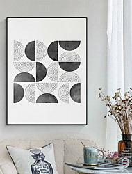 cheap -Wall Art Canvas Prints Painting Artwork Picture Abstract Black White Geometry Home Decoration Dcor Rolled Canvas No Frame Unframed Unstretched