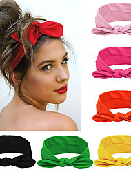 cheap -6 Pcs/set Fashion Women Headband Solid Color Turban Twist Knitted Cotton Hairband Hair Accessories Twisted Knotted Headwrap For Girls
