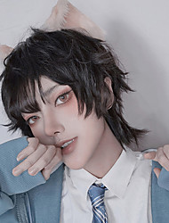 cheap -Synthetic Wig Curly Wavy Asymmetrical Wig Short A39 Synthetic Hair Men's Soft Party Fashion Mixed Color