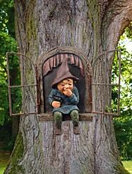 cheap -Resin Naughty Garden Gnome Garden Decoration Funny Statue Old Man Fairy Garden Ornament Accessories Elves Desk Decor Gift