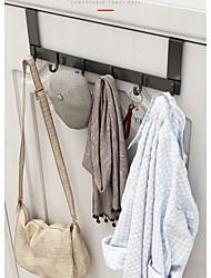 cheap -Door Hook Free Perforated Aluminum Wall Coat Hanger Wall Hanging Rack Bedroom Door Hanger Storage Shelf