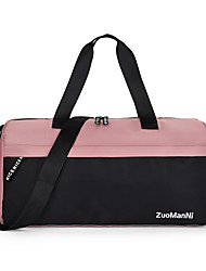 cheap -Women's Large Capacity Waterproof Sports Oxford Cloth Travel Bag Zipper Color Block Letter Daily Outdoor Black / White Purple Dusty Rose Pink