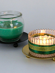cheap -6 Mini Nordic Gold Iron Round Candlestick Romantic Candle Cup Table Accessories
