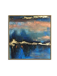 cheap -Oil Painting Handmade Hand Painted Wall Art Modern Retro Gold Foil Landscape Abstract Home Decoration Decor Stretched Frame Ready to Hang